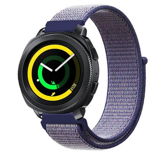 Нейлоновий ремінець Primo для годин Samsung Sport Gear SM-R600 - Navi Blue