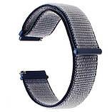 Нейлоновий ремінець Primo для годин Samsung Sport Gear SM-R600 - Navi Blue, фото 2