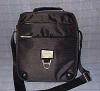 Мужская сумка JTL J727-1 серая плотная ткань