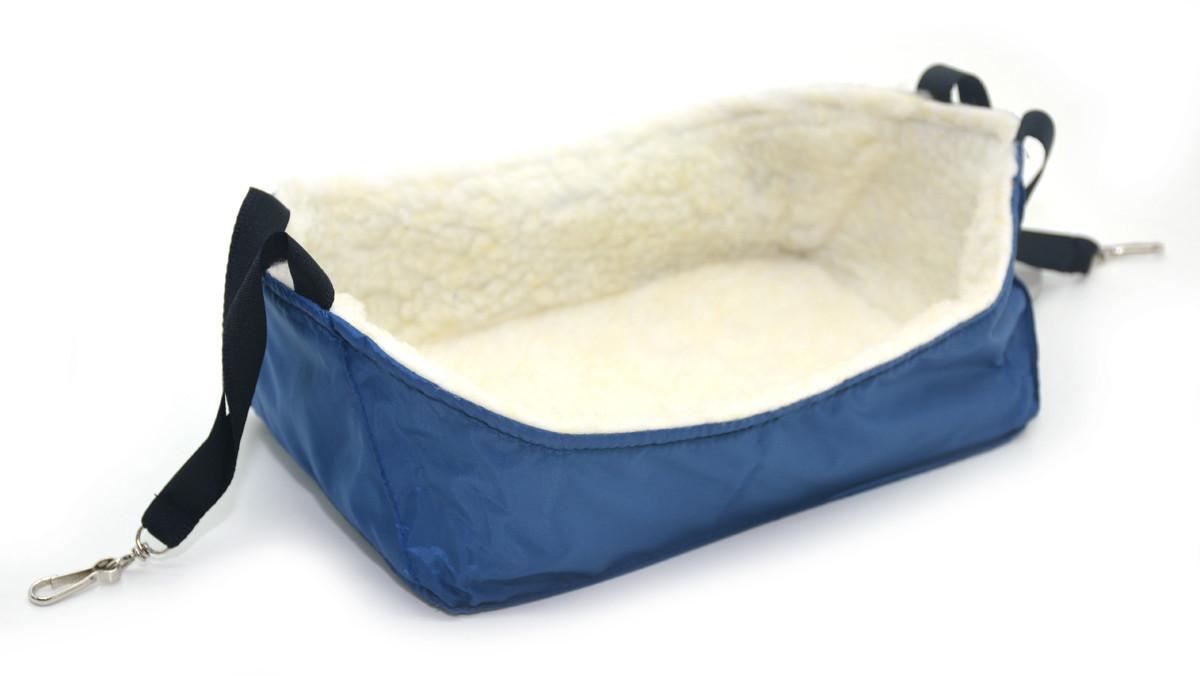 Гамак для кролика 290х170х110 синий
