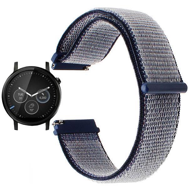 Нейлоновый ремешок для часов Motorola Moto 360 2nd gen (42 mm ) - Navi Blue