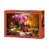 """Пазлы  1500 """"Натюрморт со скрипкой и цветами""""   Castorland"""