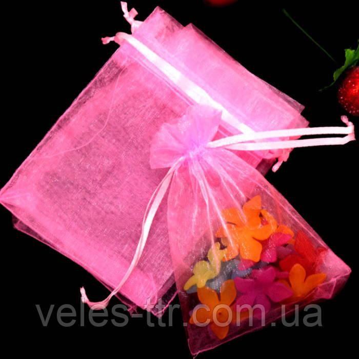 Мешочек из органзы 9х12 см Розовый яркий