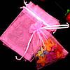 Мешочек из органзы 10х13 см Розовый яркий