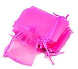 Мешочек из органзы 9х12 см Розовый яркий, фото 2