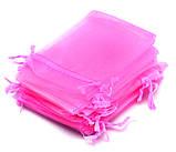Мешочек из органзы 9х12 см Розовый яркий, фото 4