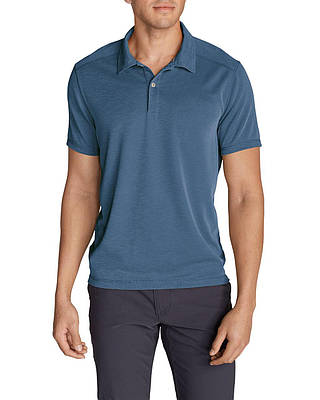 Поло рубашка Eddie Bauer Contour Performance Slub Polo Shirt