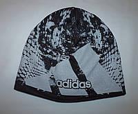 "Шапка мужская ""Adidas"" трикотаж на флисе"