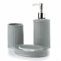 Керамический набор для ванной Нежность Grey