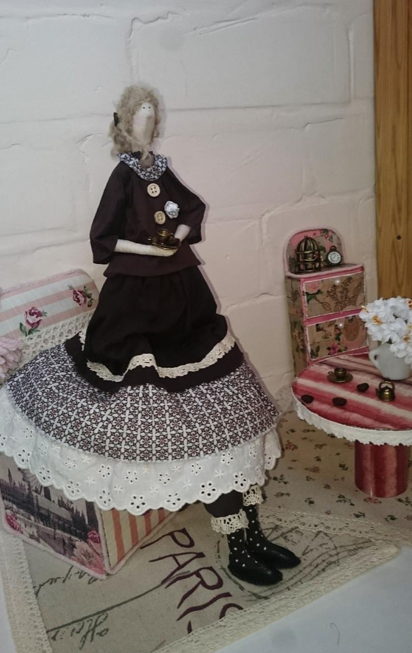 Кофейный винтажный ангел в стиле Тильда Hand Made, подарок