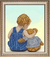 Набор для вышивки крестом Мой друг Мишка 1 КИТ 70314