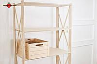 Стеллаж деревянный Прованс-640 Размер: 1910х780х400мм.