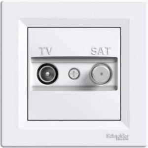 Розетка TV-SAT індивідуальна (1 дБ) Asfora Біла Schneider Electric, фото 2