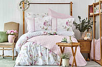 Постельное белье Karaca Home ранфорс Rosa Pembe розовое евро размер
