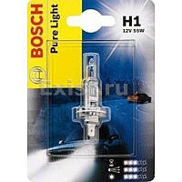 Галогенная лампа H1 12V 55W (Pure Ligft) блистер, на Renault Trafic 2001-> — Bosch (Германия) - 1987301005