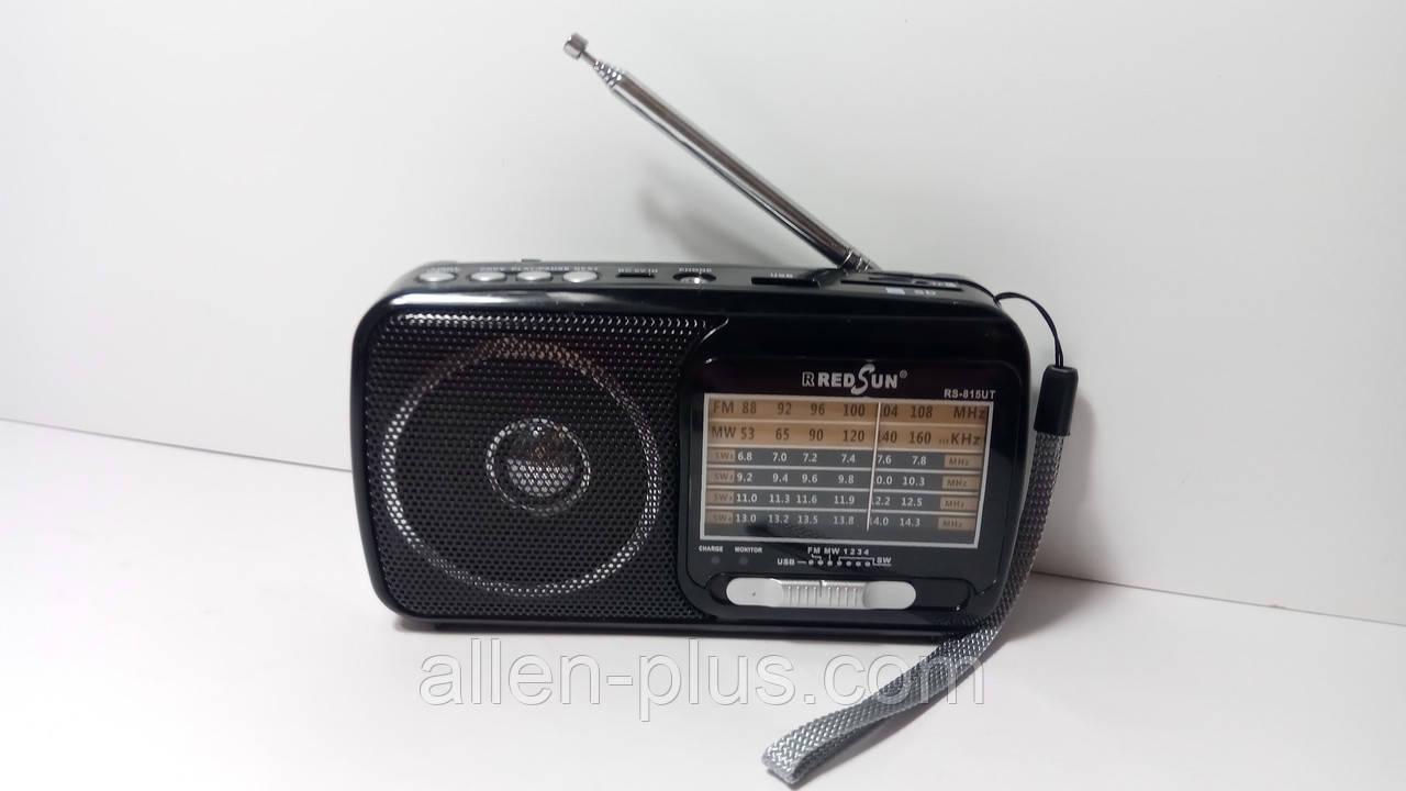 Радіоприймач RRedSun RS-815UT, FM/MW/SW, USB/microSD, mp3, акумулятор Li-Ion 1200mAh