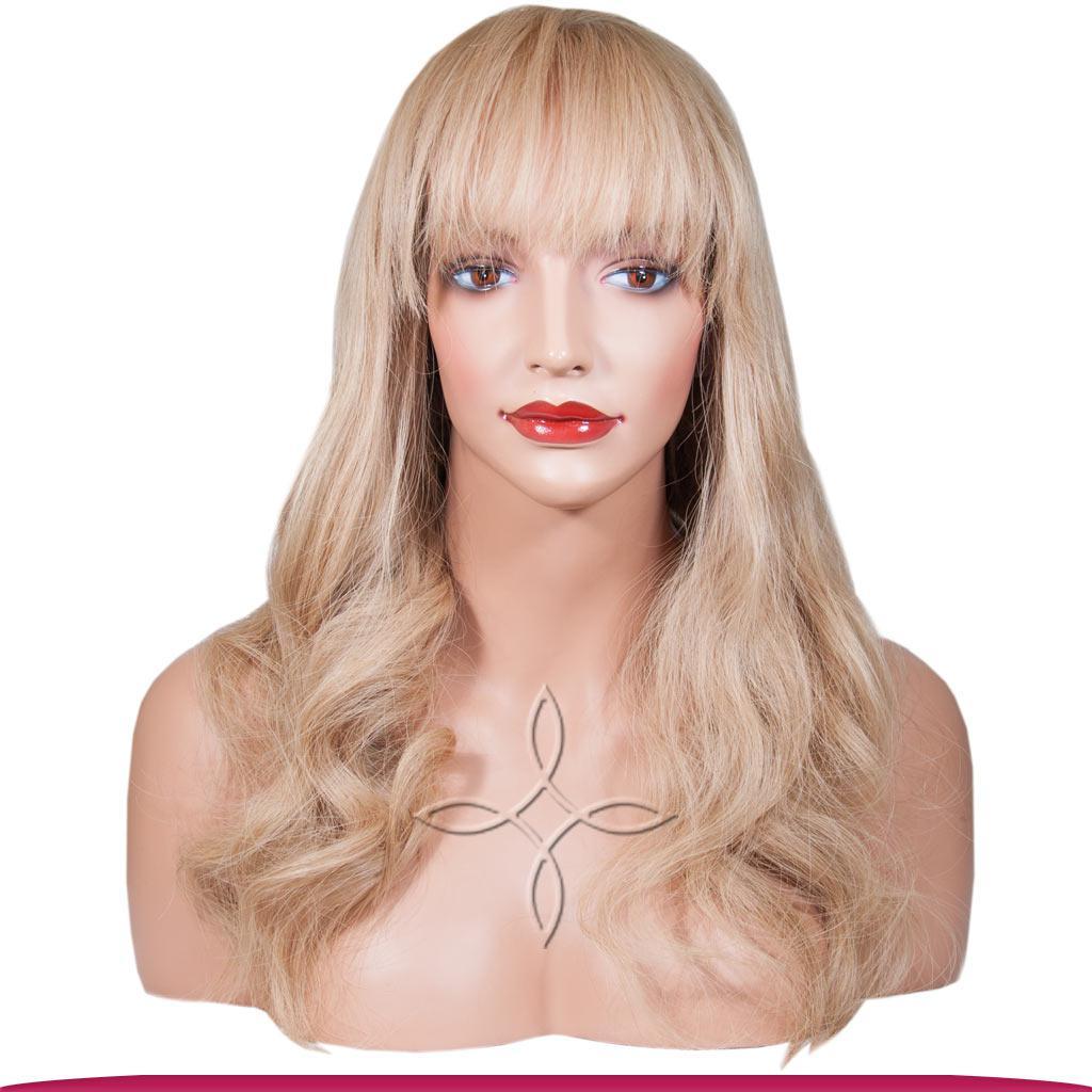 Парик из Натуральных Волос 60 см 170 грамм, Блонд №18