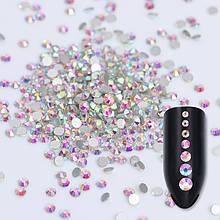 Стрази скляні MIX AB райдужні (різні розмір), 1440 шт. в пакетику (аналог Swarovski)