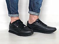 Кроссовки мужские в стиле Reebok Classic код товара 4S-1100. Черные