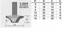 Фреза 1009 R16