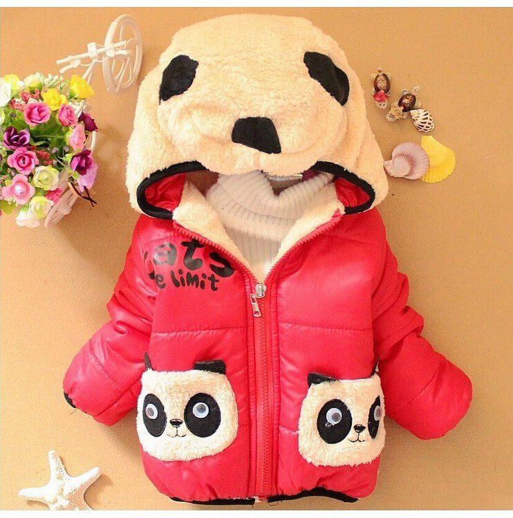 """Демисезонная куртка для девочки """"Панда"""" размер 92."""