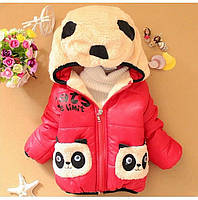 """Демисезонная куртка для девочки """"Панда"""" размер 92., фото 1"""