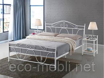 Двоспальне металеве ліжко Denver biały Signal