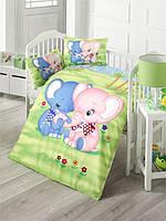 Детский комплект постельного белья  LIGHTHOUSE дит. ELEPHANT 100*150/2*35*45 *