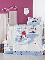 Детский комплект постельного белья  LIGHTHOUSE дит. NAUTIC 100*150/2*35*45