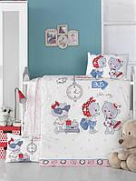 Детский комплект постельного белья  LIGHTHOUSE дит. PINK STATION 100*150/2*35*45