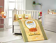 Комплект постельного белья  HOBBY дит. Bambam жовтий 100*150/2*35*45 *