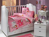 Комплект постельного белья  HOBBY дит. City Girl розевий 100*150/2*35*45 *