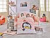 Комплект постельного белья  HOBBY дит. Penguin персиковий 100*150/2*35*45