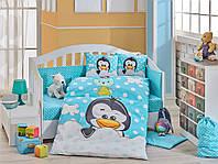 Комплект постельного белья  HOBBY дит. Penguin голитний 100*150/2*35*45