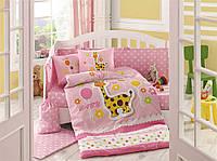 Комплект постельного белья  HOBBY дит. Puffy розевий 100*150/2*35*45