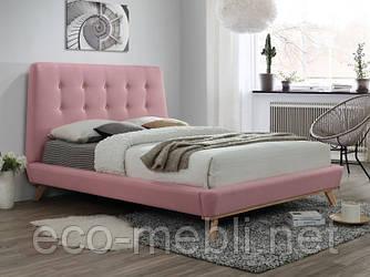 Двоспальне ліжко з мякою оббивкою Dona 160 różowy Signal