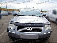 Мухобойка +на капот  VW B-5+(ресталинг) с 2001-2005 г.в. (Фольксваген Б-5) Vip Tuning