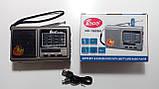 Радіоприймач FP-1525U, FM/MW/SW, USB/microSD, mp3, акумулятор Li-Ion 1200mAh, фото 3