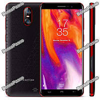 "Смартфон Homtom S12 Black-Red, 1/8Gb, 8+2/5Мп, 4 ядра, 2sim, экран 5"" IPS, 2750mAh, GPS, 4G"