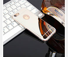 Чехол Apple Iphone 6 Plus / 6S Plus силикон зеркальный металлик