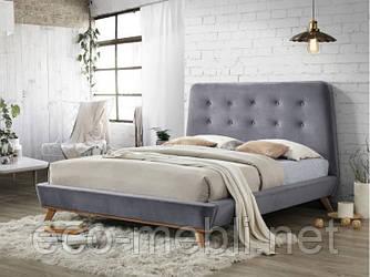 Двоспальне ліжко з мякою оббивкою Dona 160 Velvet Signal