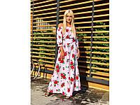 Длинное женское цветочное платье 31268, фото 1