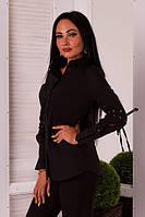 Рубашка женская коттоновая на пуговицах (К23630), фото 1