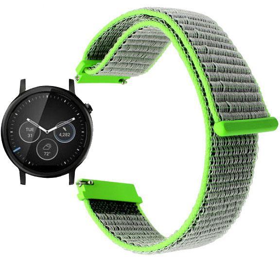 Нейлоновий ремінець для годинника Motorola Moto 360 2nd gen (42 mm ) - Green