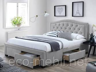 Двоспальне ліжко з мякою оббивкою Electra 160 Signal