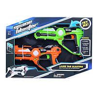 Интерактивный пистолет бластер для игры в лазертаг Laser Tag Blasters Красный/Зеленый