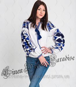 """Купить украинскую вышиванку белую блузку (размер 38UA/RU). Модель """"Holiday"""""""