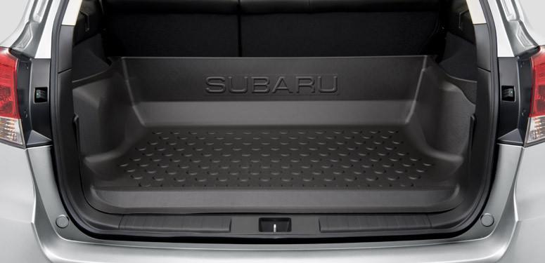 Поддон багажника закрывающий спинку заднего сидения аксессуар Subaru Outback В14 Оригинал 09-14 (J515EAJ200)