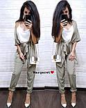 Жіночий костюм-трійка: накидка, майка і штани (4 кольори), фото 3