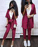 Жіночий костюм-трійка: накидка, майка і штани (4 кольори), фото 4